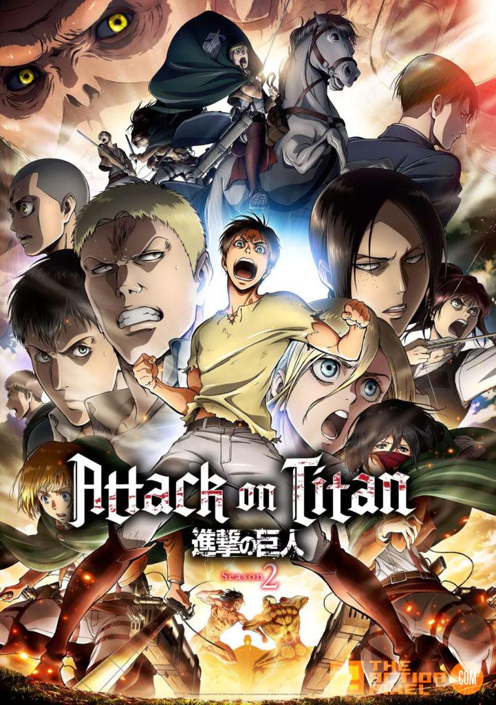 ATTACK ON TITAN, POSTER,erin , mikasa, armin, titans, the action pixel, entertainment on tap,
