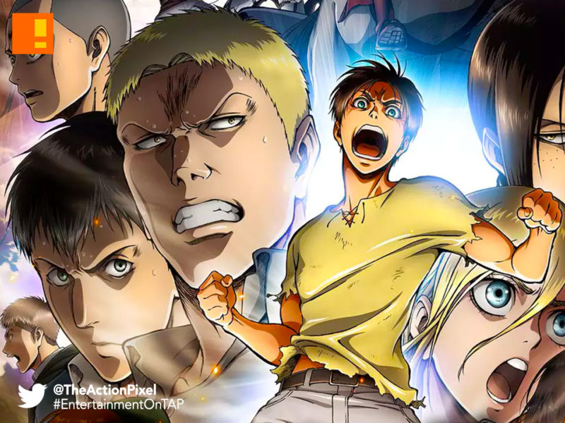 ATTACK ON TITAN, POSTER,erin , mikasa, armin, titans, the action pixel, entertainment on tap,