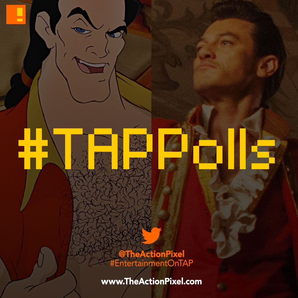 tap polls, beauty and the beast, gaston, the action pixel, entertainment on tap,