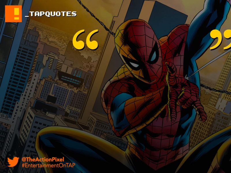 TAPQuotes, tap quotes, quotations, spider-man, spiderman, voltaire, marvel, with great power there must also come – great responsibility, the amazing spider-man,