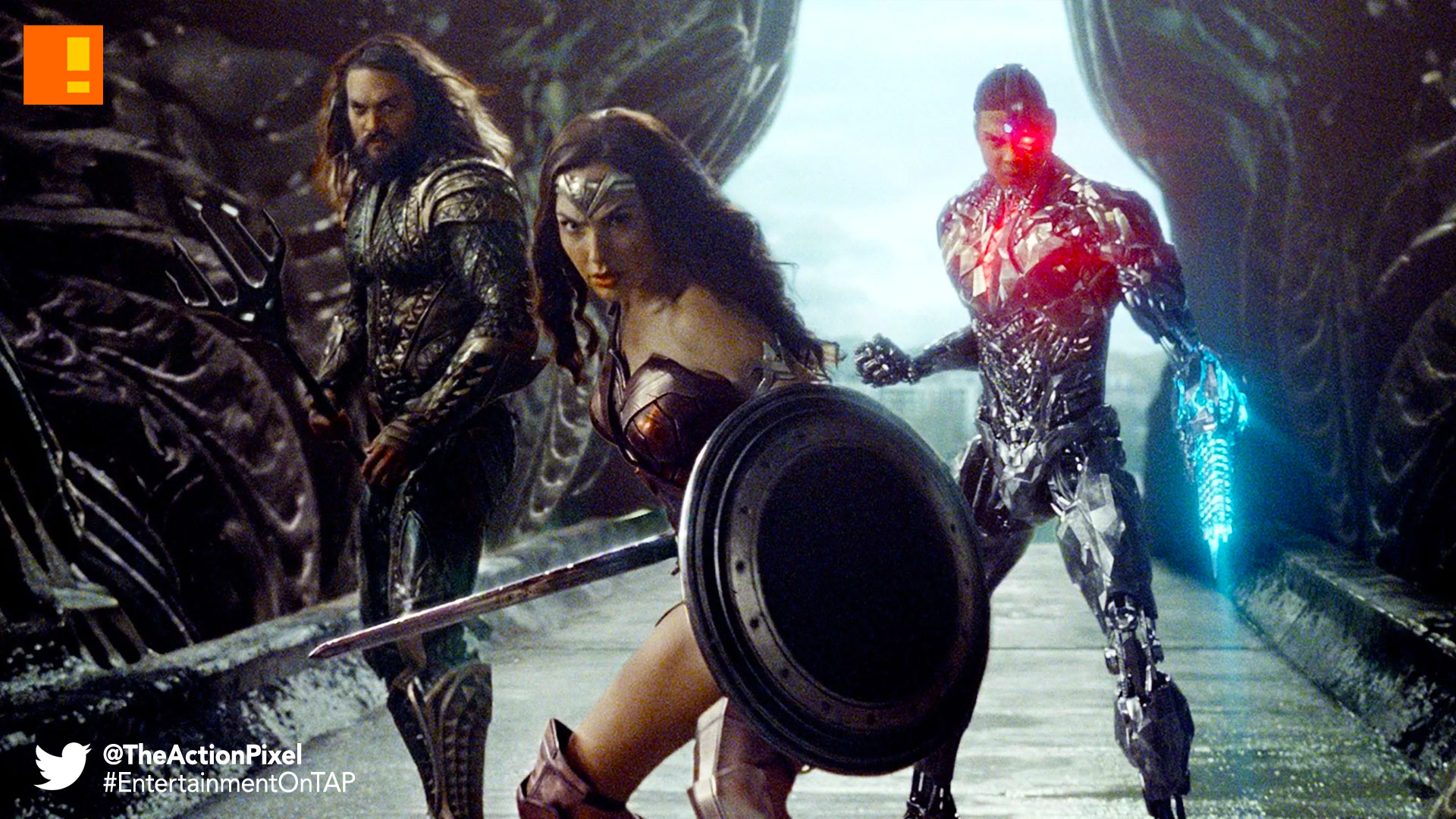 cyborg, wonder woman, aquaman, the action pixel, entertainment on tap, justice league, dc comics, zack snyder,