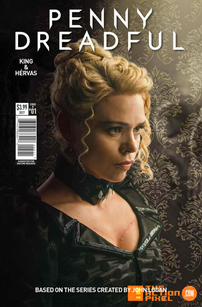 penny dreadful, the awaking, the action pixel, titan comics, showtime ,cover b