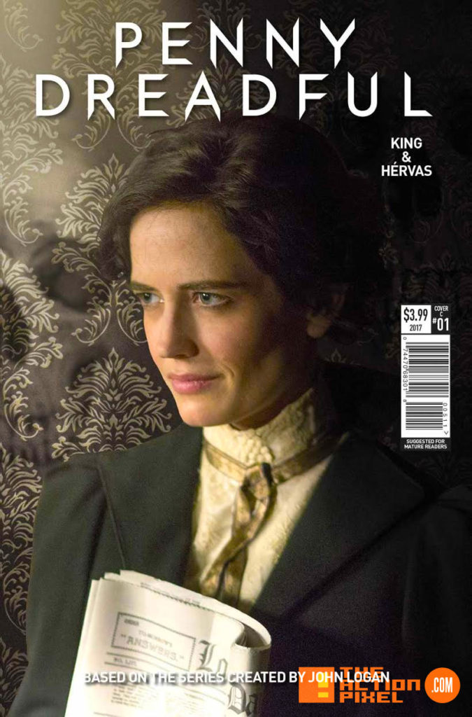 penny dreadful, the awaking, the action pixel, titan comics, showtime ,cover c