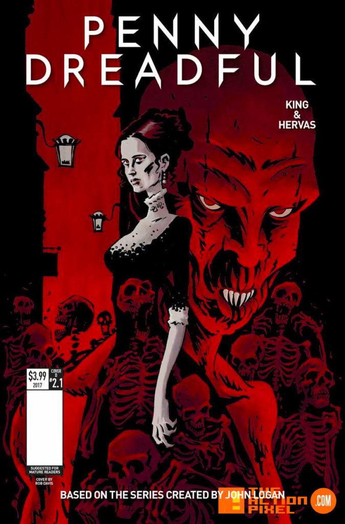 penny dreadful, the awaking, the action pixel, titan comics, showtime ,cover d