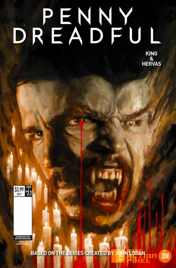 penny dreadful, the awaking, the action pixel, titan comics, showtime ,cover e