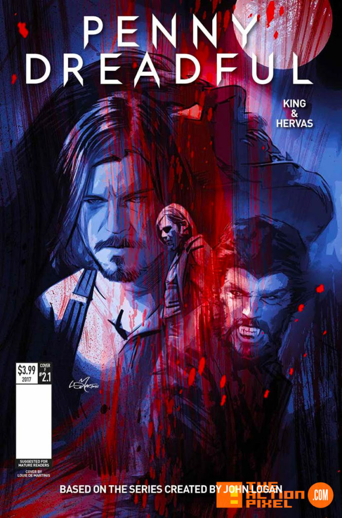 penny dreadful, the awaking, the action pixel, titan comics, showtime ,cover f