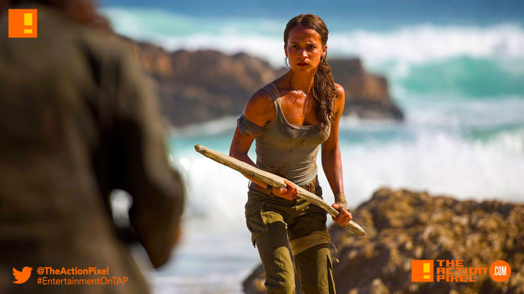 TOMB RAIDER, ALICIA vikander, lara croft, first look, entertainment on tap, the action pixel