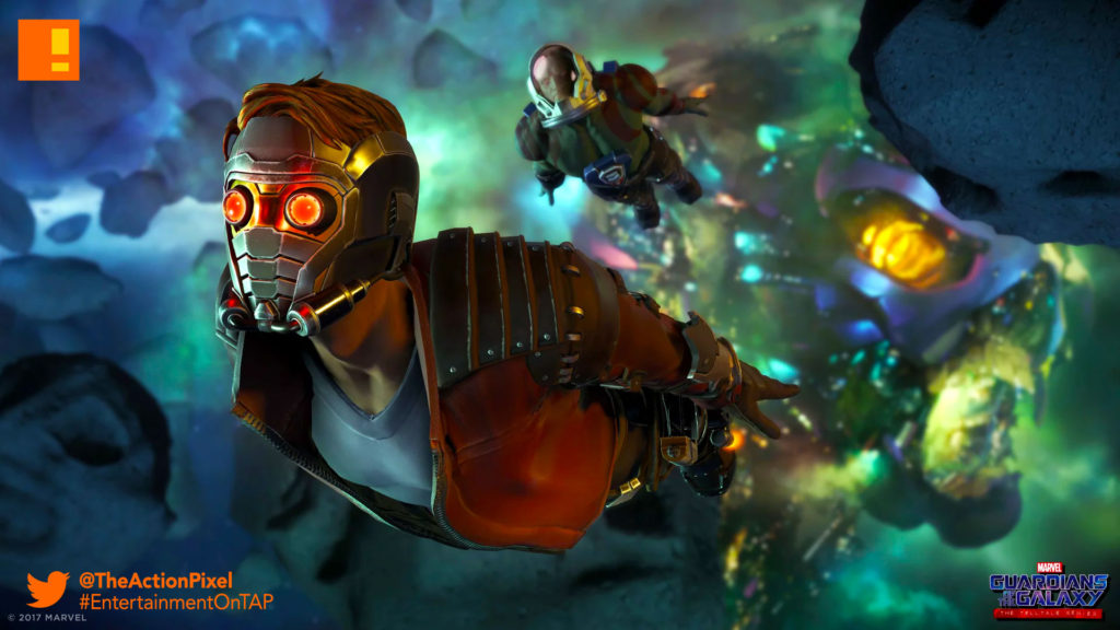 gotg, telltale games, telltale series, marvel, guardians of the galaxy, entertainment on tap, the action pixel,rocket ,raccoon, star-lord, drax, gamora,