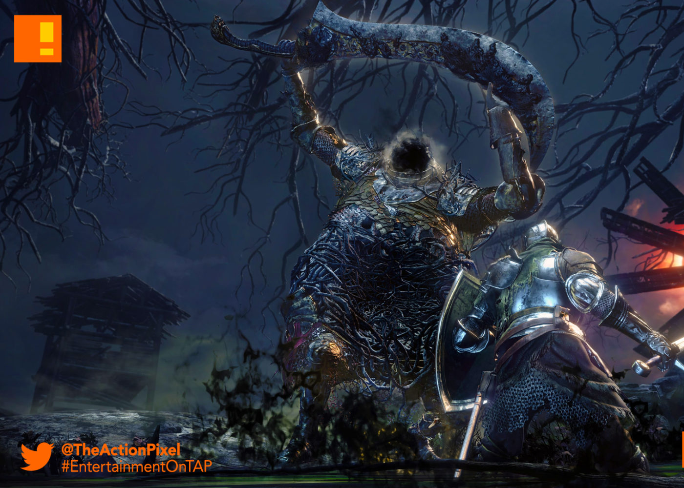 dark souls 3, dark souls III, the ringed city, dragon ruins, grand roof, the action pixel, entertainment on tap, from software, bandai namco entertainment
