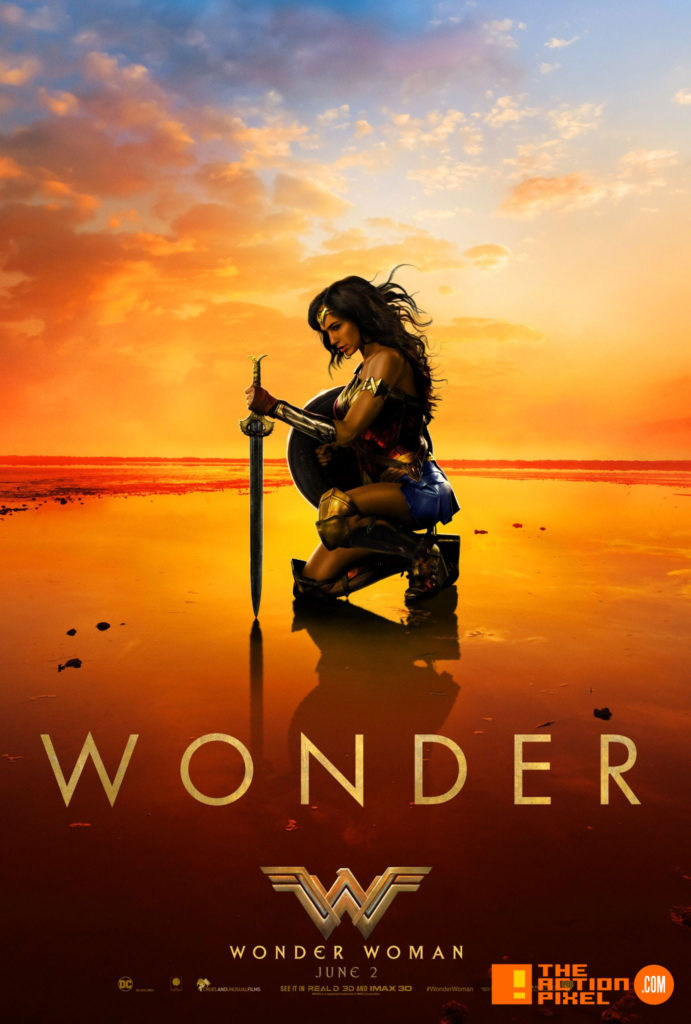 wonder woman,the action pixel, entertainment on tap, wb pictures, warner bros. entertainment , the action pixel, gal gadot, ww,poster