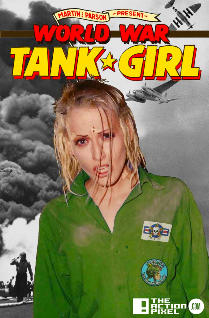 world war tank girl, cover d,Photo variant, the action pixel, entertainment on tap,titan comics,