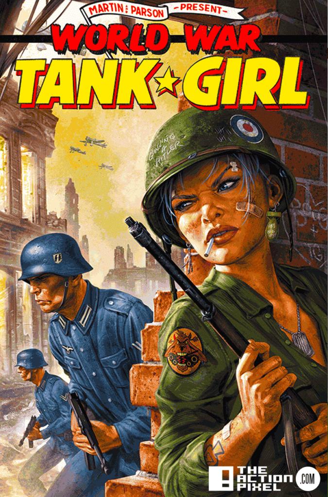 Chris Wahl,world war tank girl, cover e, the action pixel, entertainment on tap,titan comics,
