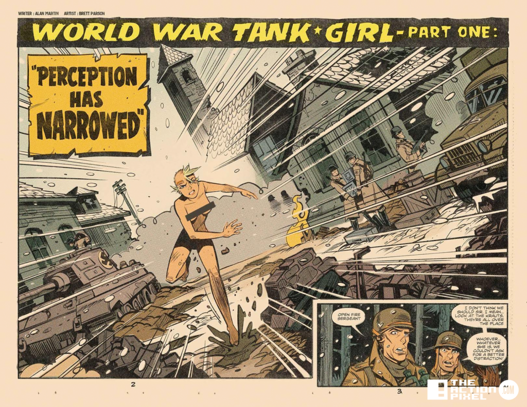 world war tank girl, the action pixel, entertainment on tap,titan comics,