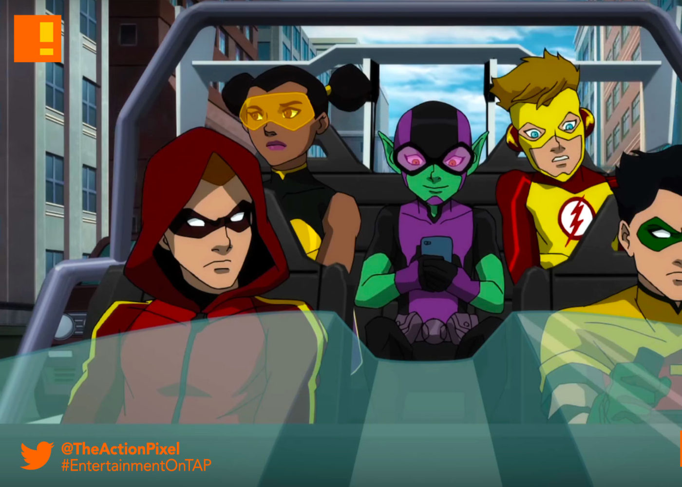 teen titans, judas contract, the action pixel, entertainment on tap, the action pixel, wb animation, warner bros., dc comics, starfire, clip teaser,clip, teaser, beast boy, robin, red arrow, kid flash, bumblebee,