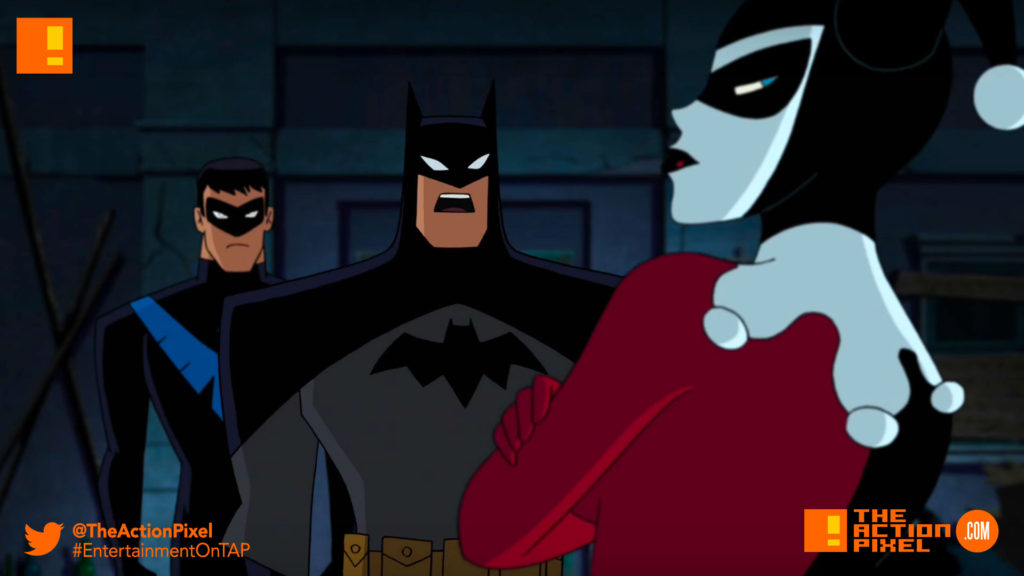 batman, Harley Quinn, batman and harley quinn, the action pixel, entertainment on tap, nightwing