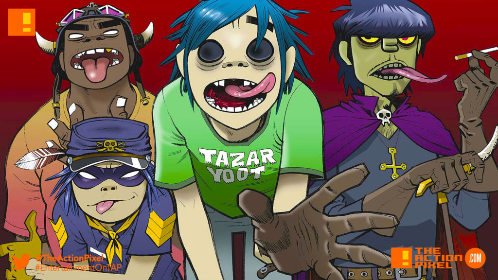 gorillaz, the action pixel,entertainment on tap,