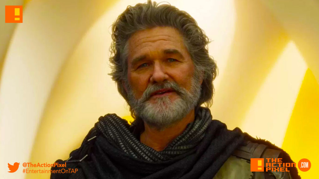 kurt russell, ego, ego the living planet, the living planet, guardians of the galaxy, guardians of the galaxy vol. 2, tap reviews, review,movie review, star-lord, gamora, yondu,groot, drax, mantis, peter quill, yondu, movie reviews, marvel, marvel comics, marvel studios, adam warlock
