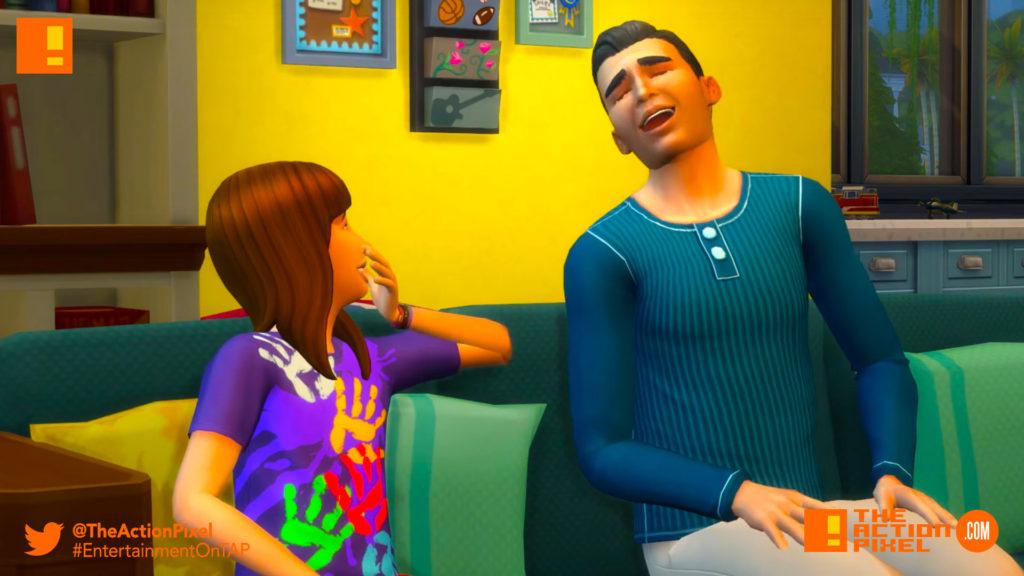 the sims 4 parenthood, parenthood, the sims, the sims 4, trailer, the action pixel, ea, ea games,