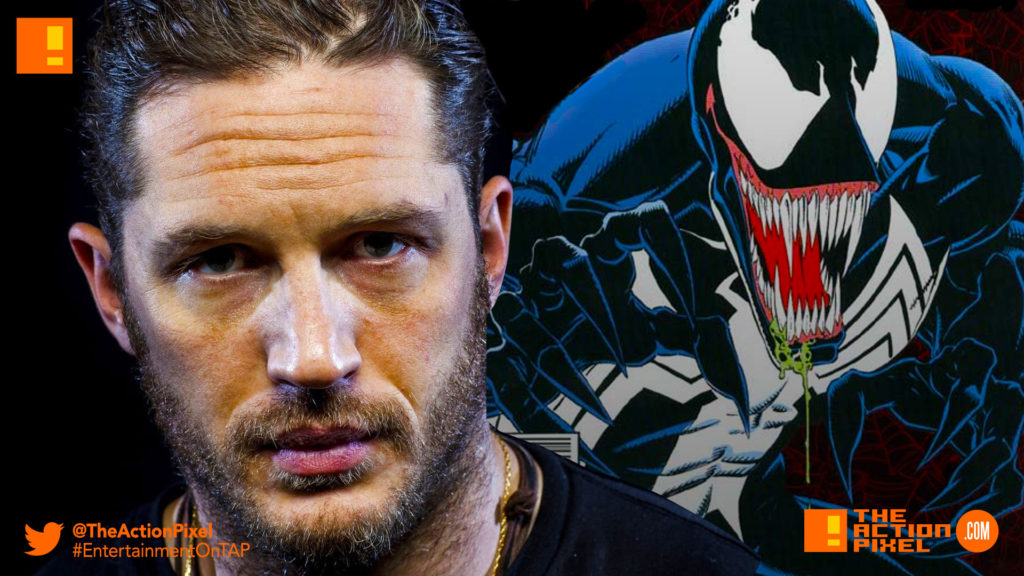 tom hardy, venom, spider-man, spin-off, the action pixel, entertainment on tap,sony picturestom hardy, venom, spider-man, spin-off, the action pixel, entertainment on tap,sony pictures