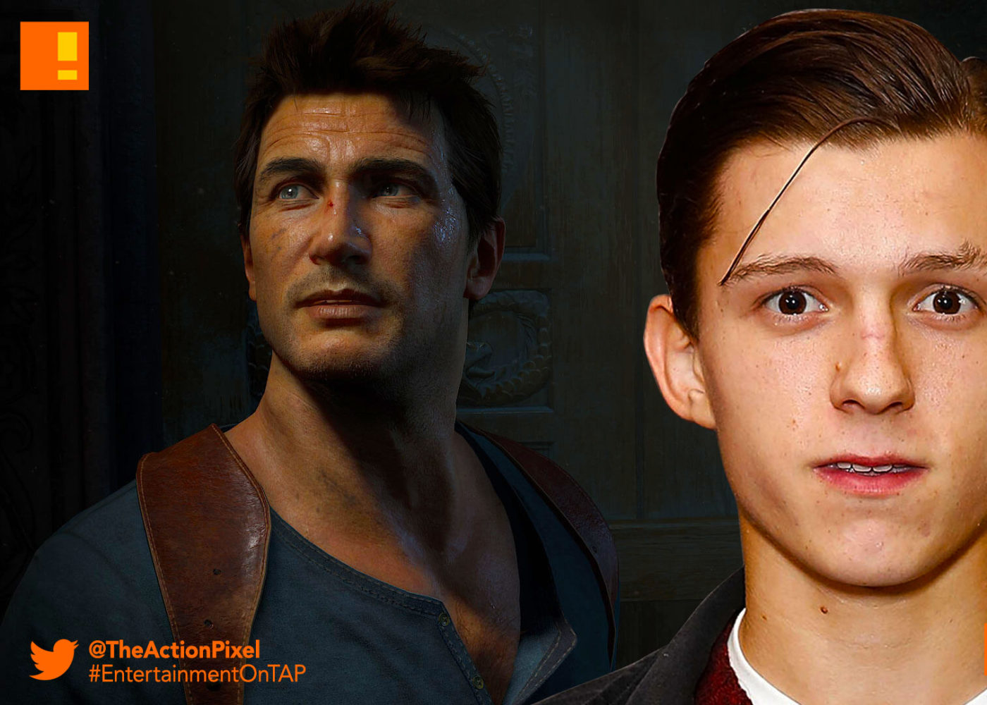 tom holland, sony pictures, marvel, naughty dog, casting,script rewrite, Nathan drake, the action pixel, entertainment on tap,
