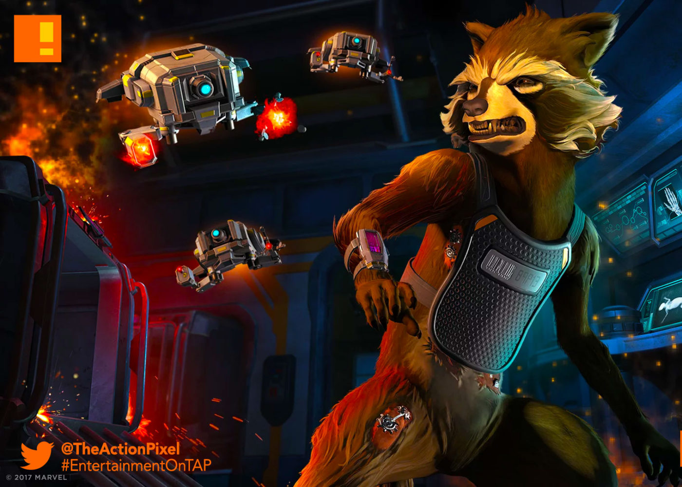 underpressure,gotg,telltale, episode 2, gotg, telltale games, telltale series, marvel, guardians of the galaxy, entertainment on tap, the action pixel,rocket ,raccoon, star-lord, drax, gamora,trailer, official trailer, launch trailer,thanos,