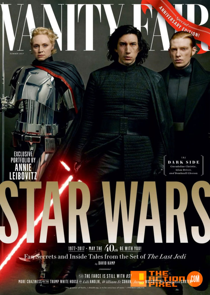 vanity fair, the last jedi, star wars, star wars: the last jedi, mark hamil, luke skywalker, princess leia,carrie fisher, rey,the action pixel, entertainment on tap,kylo ren