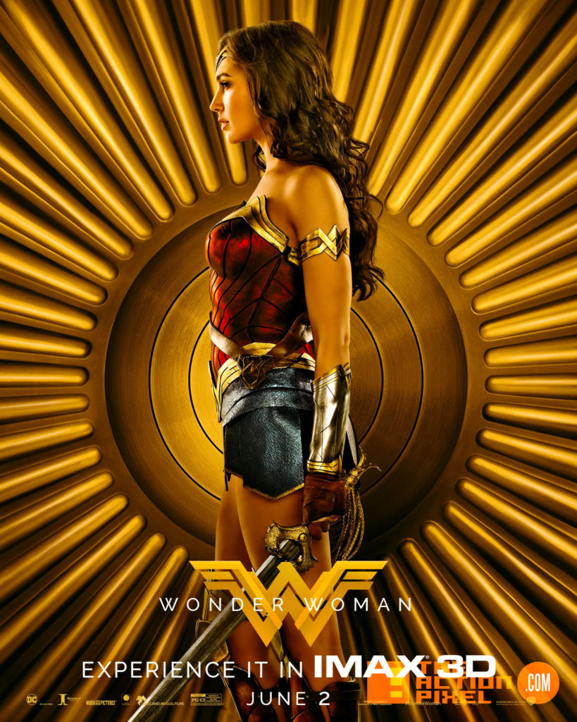 wonder woman,imax, poster, gal gadot, the action pixel, entertainment on tap,warner bros. warner bros entertainment ,dc comics,dc entertainment