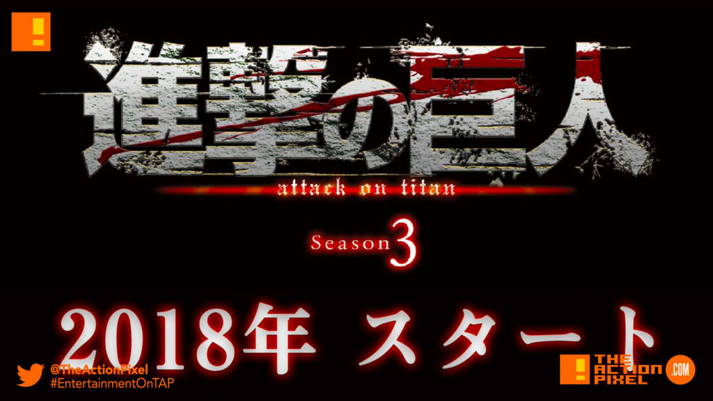 season 3, Attack On Titan, the action pixel, entertainment on tap,