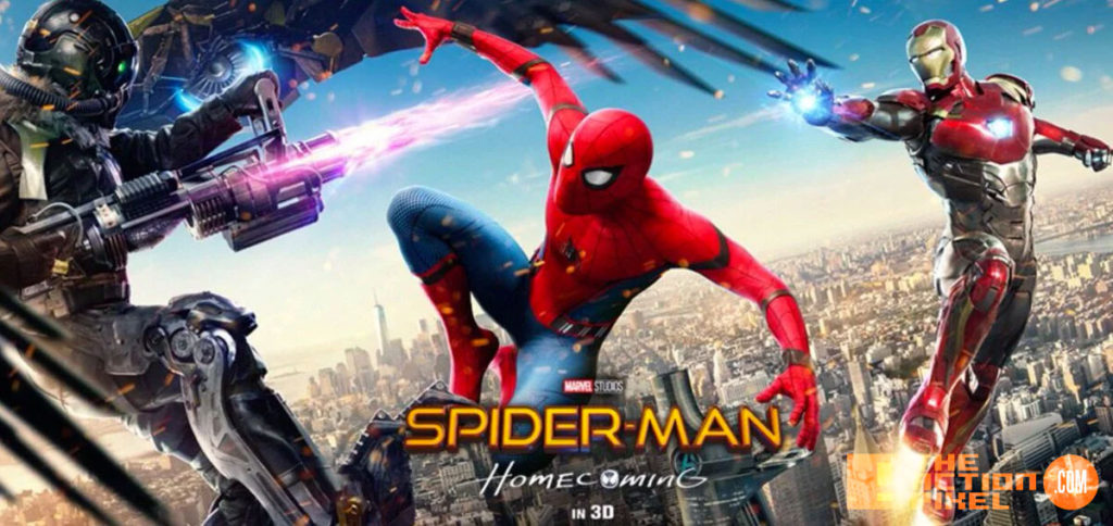 spider-man, spider-man homecoming, the action pixel, marvel,sony, sony pictures, tom holland, iron man, peter parker, vulture, tony stark, entertainment on tap,poster,