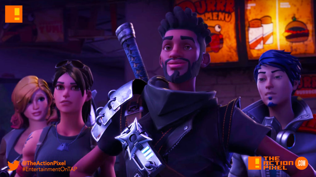 fortnite, epic games, the action pixel, entertainment on tap,
