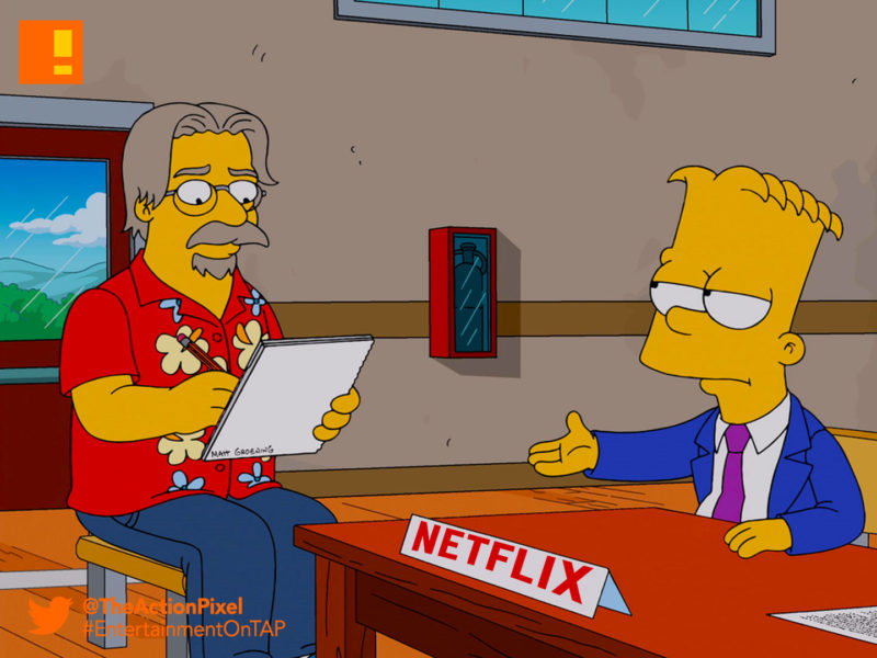 matt groening, Netflix, simpsons, futurama, the simpsons, bart simpson, lisa simpson, bart, lisa, entertainment on tap, the action pixel, disenchantment,