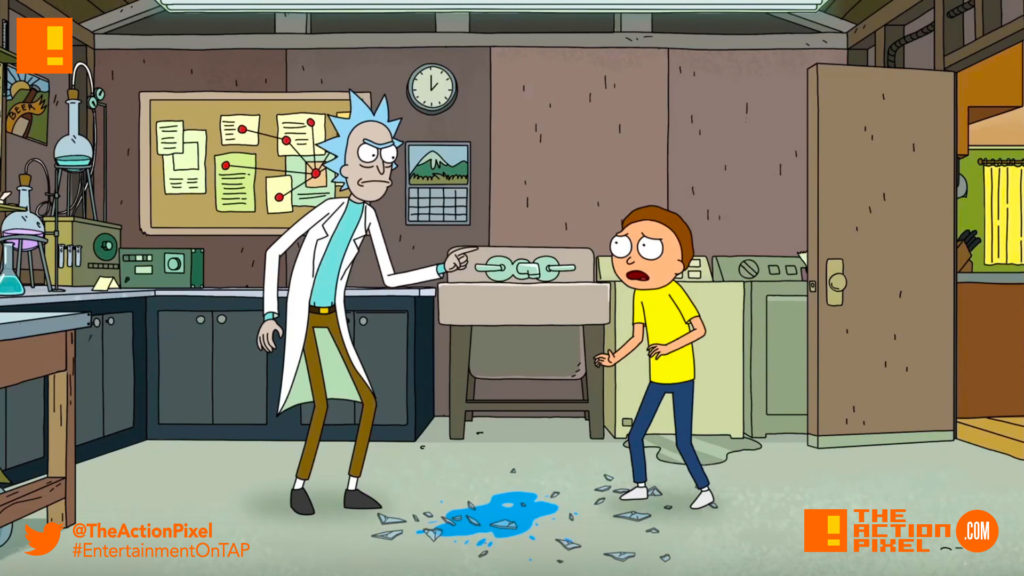 rick and morty, rick, adult swim, the action pixel, cartoon network