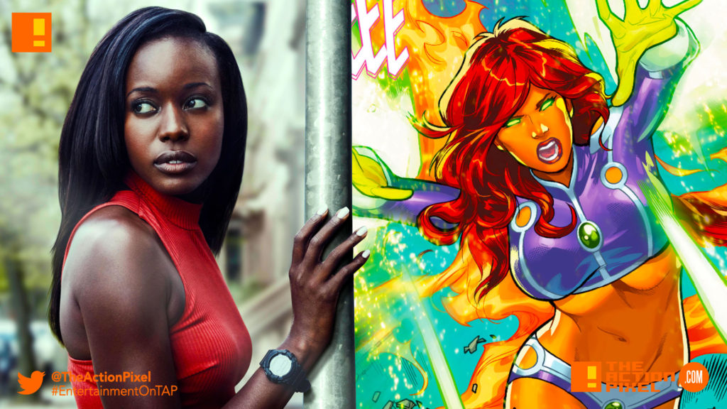 TEAGAN CROFT, raven, starfire, dc comics, the action pixel, anna diop, entertainment on tap