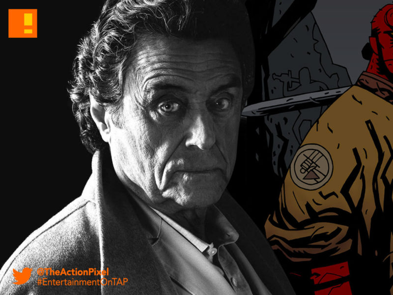ian mcshane, hellboy, professor broom, the action pixel, millenium, lionsgate, david harbour, dark horse entertainment , the action pixel, entertainment on tap,