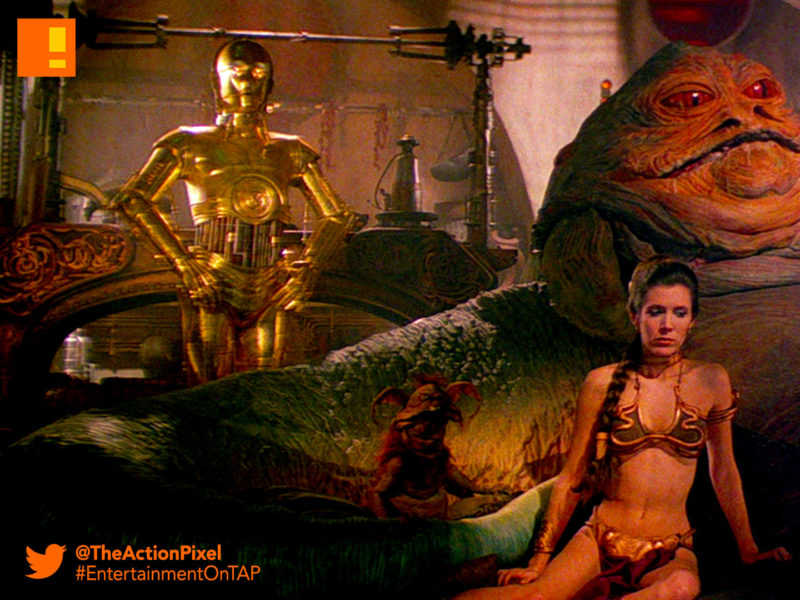 jabba the hutt, star wars, the action pixel, entertainment on tap,leia, threpio