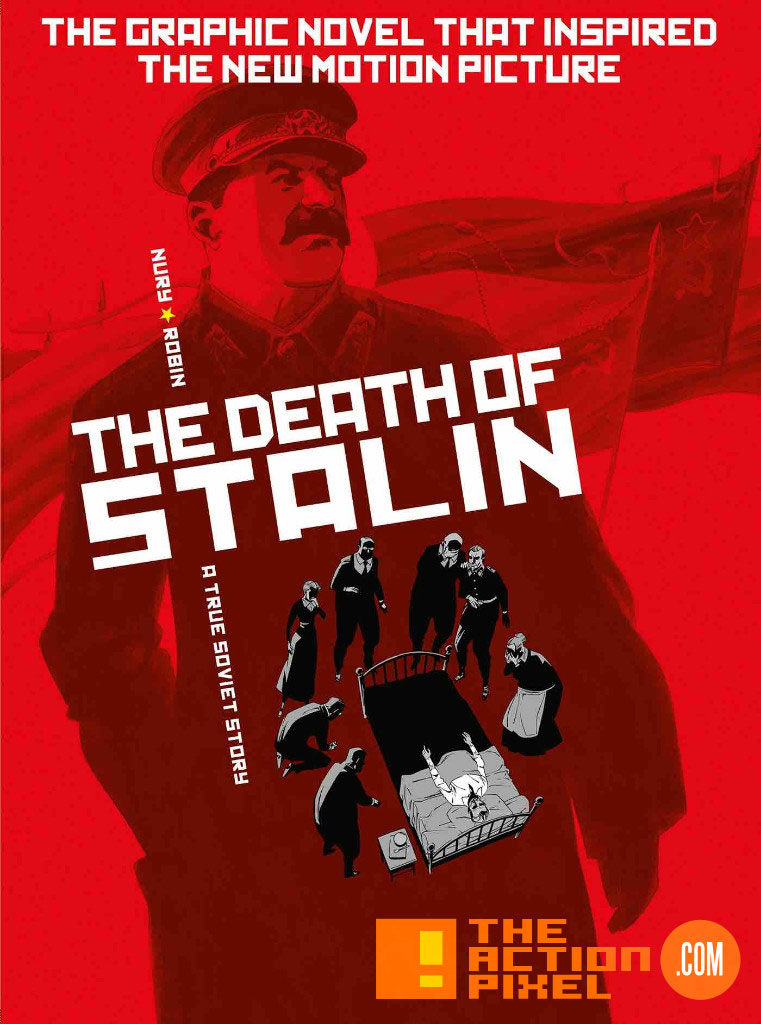 cover, poster, the death of stalin, the action pixel, titan comics, entertainment one, e one, entertainment on tap