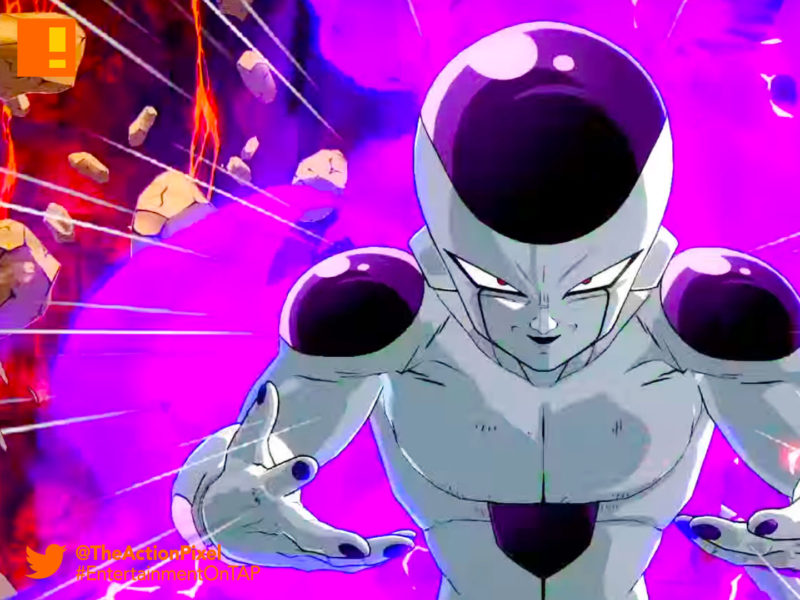 frieza, dragon ball fighterz, dragon ball z, bandai namco, e3 2017 Entertainment on tap, Electronic Entertainment expo, e3 2017, the action pixel, bandai namco, bandai namco entertainment, the action pixel, goku, buu, gohan, piccolo, vegeta, maajin buu, frieza