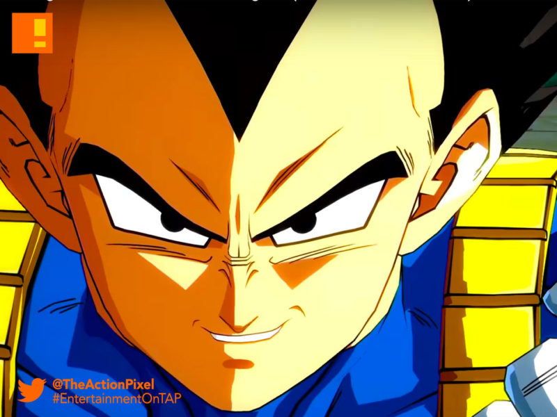 vegeta, dragon ball fighterz, dragon ball z, bandai namco, e3 2017 Entertainment on tap, Electronic Entertainment expo, e3 2017, the action pixel, bandai namco, bandai namco entertainment, the action pixel, goku, buu, gohan, piccolo, vegeta, maajin buu, frieza
