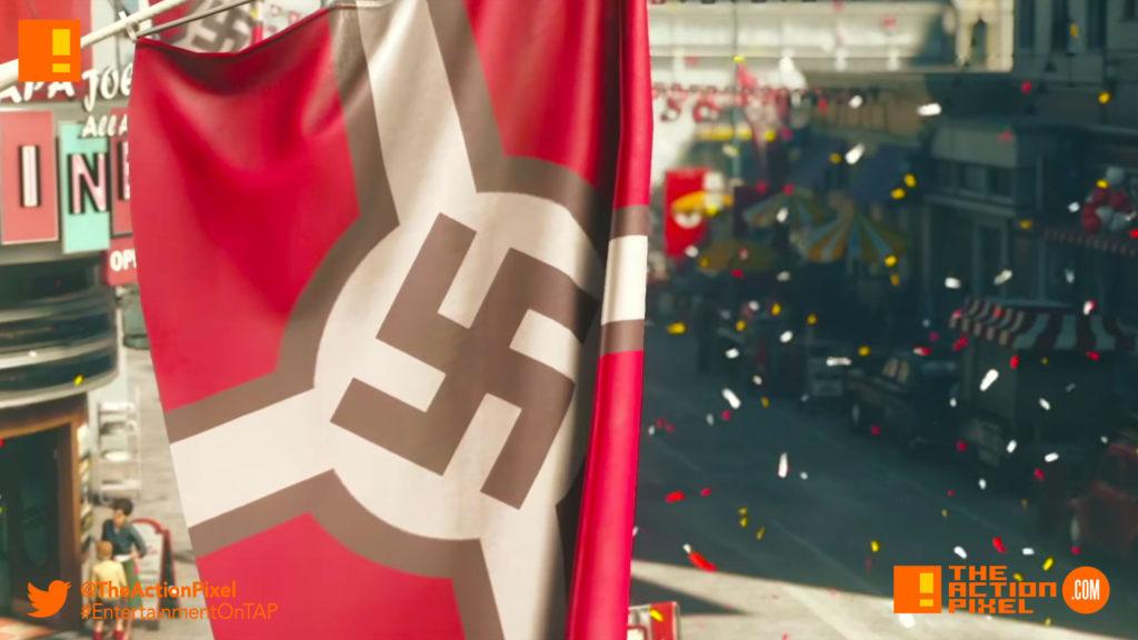 no more nazis, nazi, wolfenstein ii,wolfenstein II: The New Colossus, wolfenstein, bethesda softworks,bethesda, the action pixel, entertainment on tap, trailer, video, promo,the reunion, developer, playthrough,nazi, racist, white power