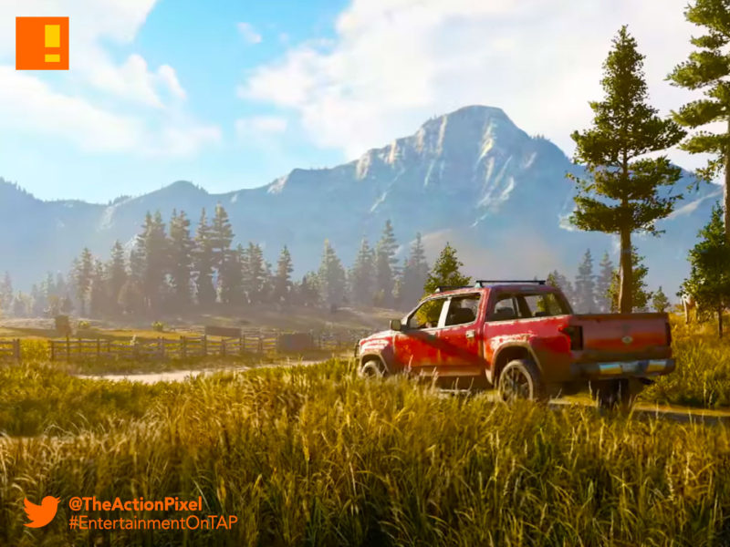 far cry, ubisoft, teaser, montana, hope country, america, teaser, teaser trailers, trailers, worldwide reveal, the action pixel,entertainment on tap,trailer, announce trailer,reveal trailer, friend for hire, co-op, pgw 2017 ,paris games week