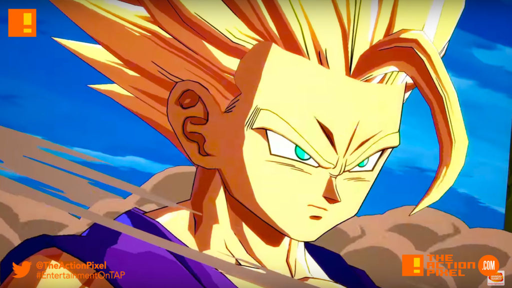 gohan,dragon ball fighterz, dragon ball z, bandai namco, e3 2017 Entertainment on tap, Electronic Entertainment expo, e3 2017, the action pixel, bandai namco, bandai namco entertainment, the action pixel, goku, buu, gohan, piccolo, vegeta, maajin buu, frieza