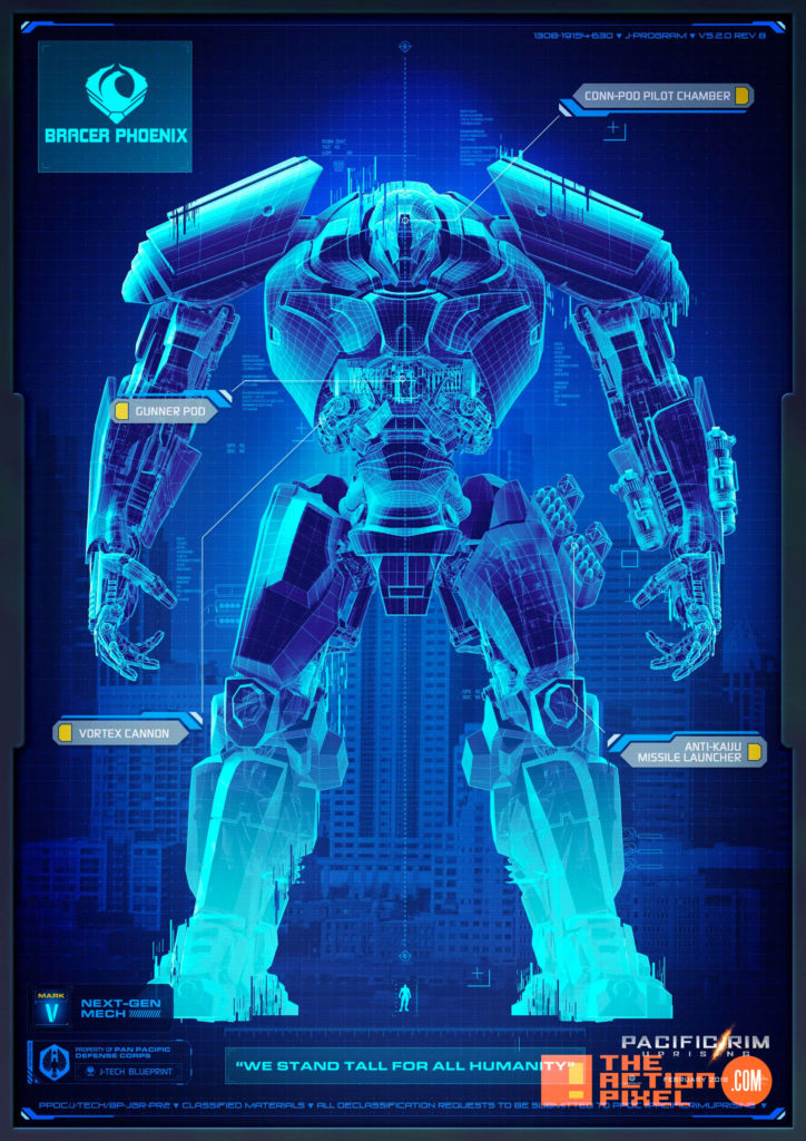 pacific rim, John Boyega, poster, pacific rim 2, pacific rim: uprising,uprising, the action pixel, entertainment on tap,GIPSY AVENGER ,BRACER PHOENIX,SABER ATHENA ,TITAN REDEEMER,GUARDIAN BRAVO