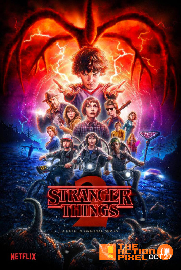 poster,eleven, stranger things 2, netflix, the action pixel, entertainment on tap,poster, entertainment on tap