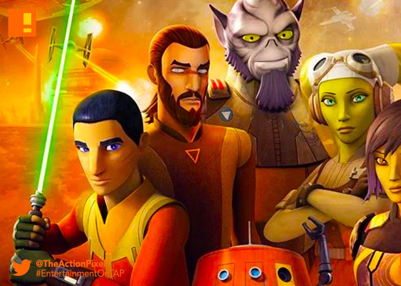 poster, sw rebels, star wars rebels , Season 4, the action pixel, disney, lucasfilm, disney xd, the action pixel, entertainment on tap,