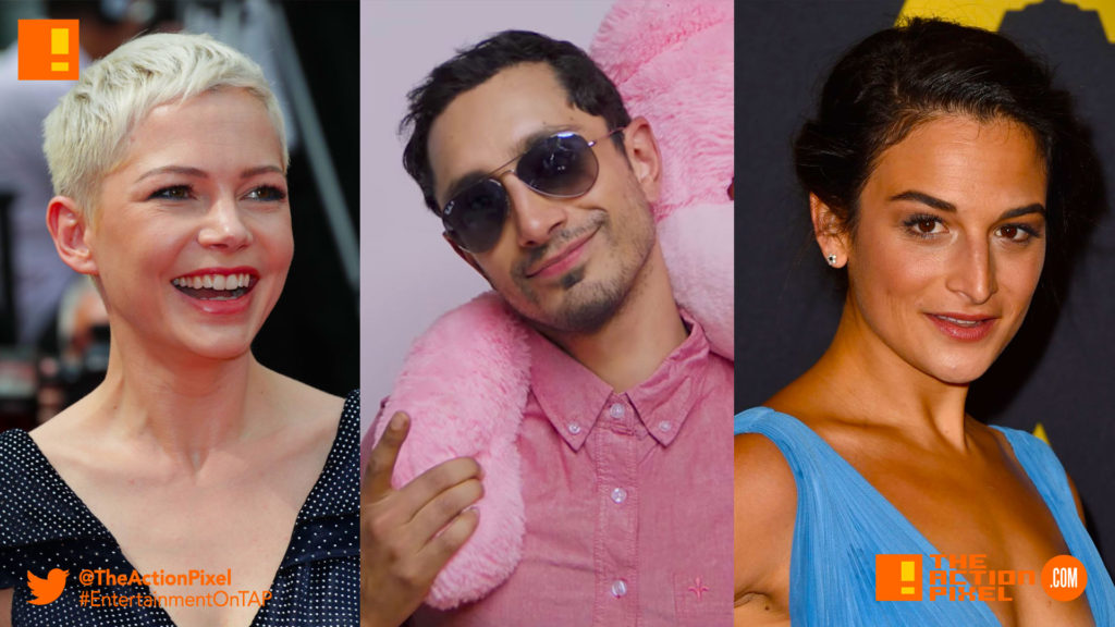 Michelle Williams ,Riz Ahmed,jenny slate, riz mc, venom, sony, tom hardy, venom, spider-man, spin-off, the action pixel, entertainment on tap,sony pictures