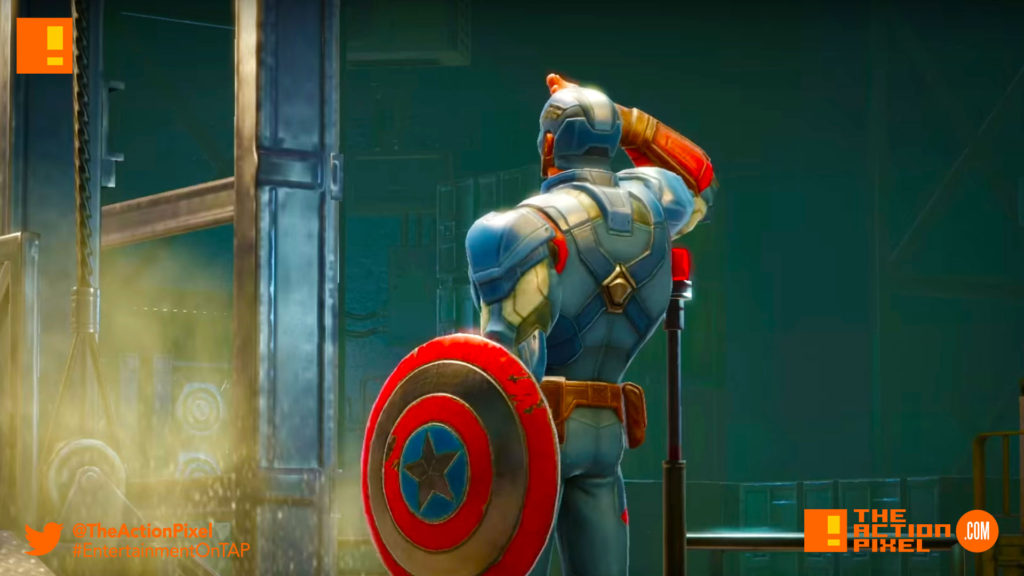 marvel's strike force, marvel, the action pixel, entertainment on tap, marvel game, foxnext games, entertainment on tap, the action pixel, captain america