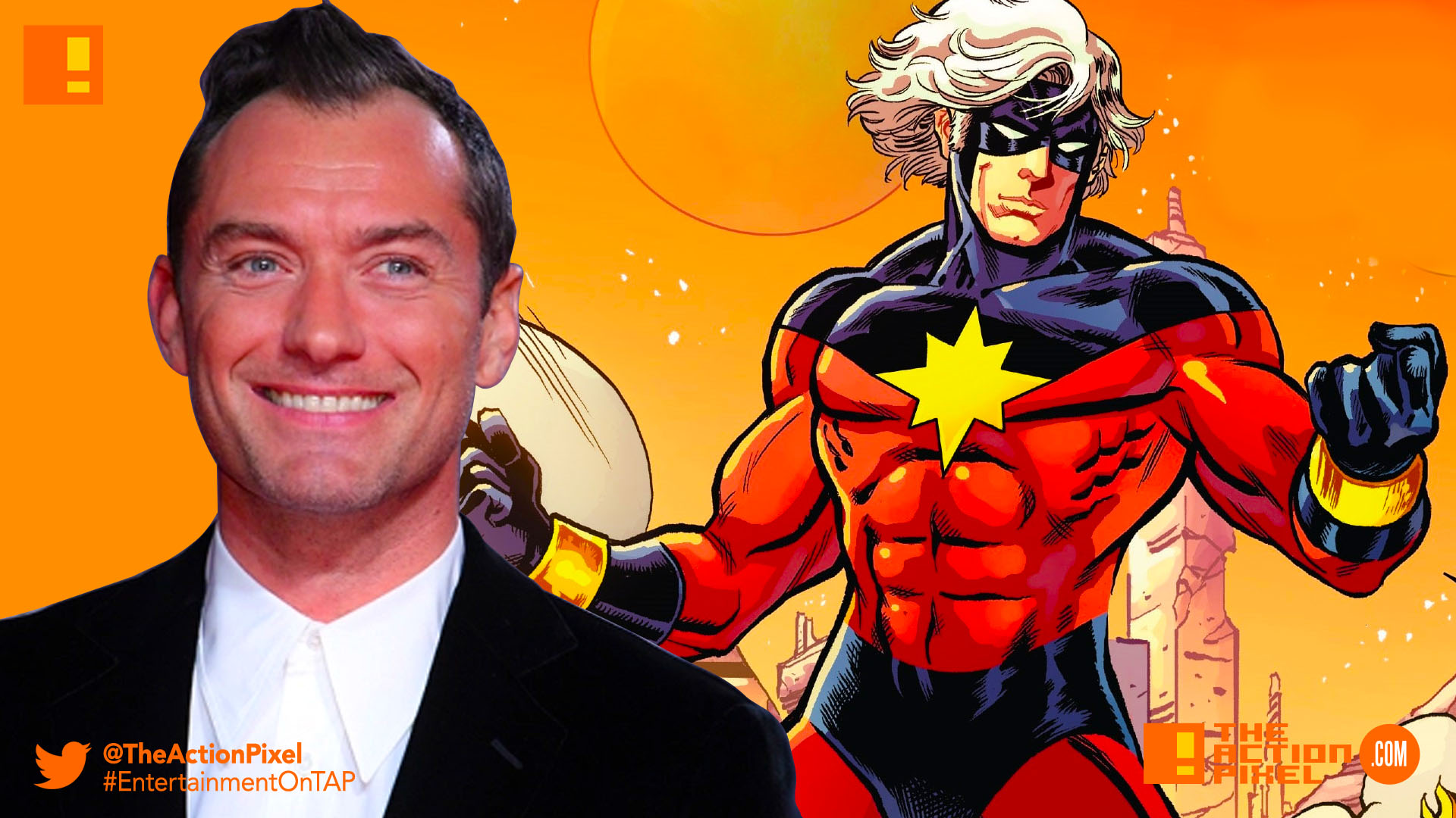 jude law, mar vell, captain marvel, brie larson, marvel,marvel comics,marvel entertainment, the action pixel,entertainment on tap,