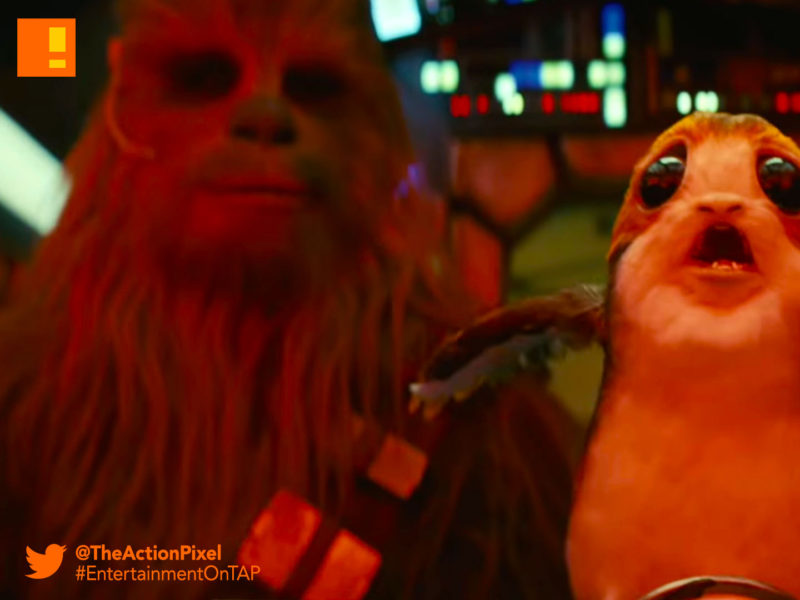 porg, snoke, snoak, the last jedi, star wars, star wars: the last jedi, mark hamill, luke skywalker, princess leia,carrie fisher, rey,the action pixel, entertainment on tap,kylo ren, photographs,image,poster ,awake, trailer, imax, poster, wookiee,