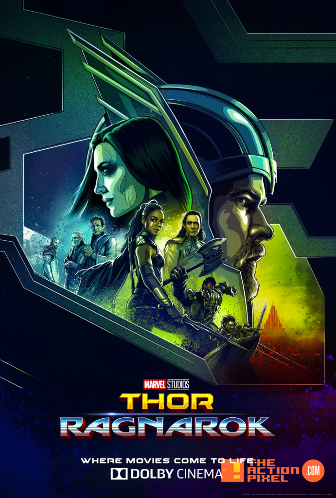 dolby cinema, hela, thor ragnarok, hulk, entertainment on tap, the action pixel, marvel comics, mark ruffalo, thor, avengers 3, infinity war, doctor strange, marvel studios, tv spot, mjolnir,review, tap reviews, film review, movie review,cate blanchett,tessa thompson , valkyrie