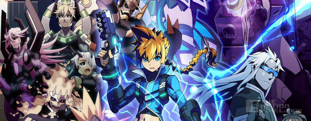 azure striker gunvolt. the action pixel @theactionpixel